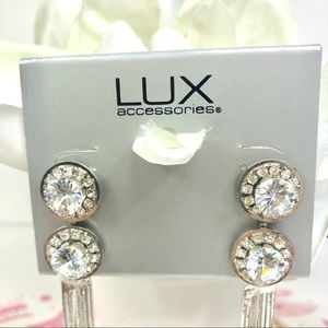 Lux Jewelry - Lux Silver Rhinestone Earrings